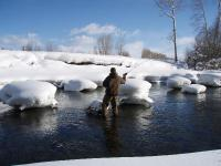 Fly fishing isn't just a summer sport!